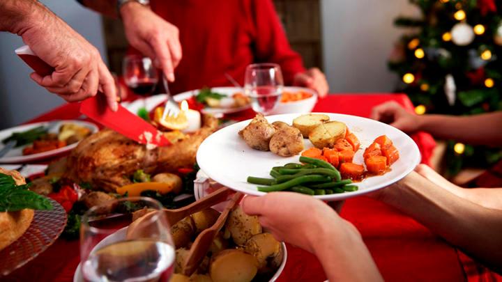 Recomendaciones para alimentarse saludablemente durante las fiestas