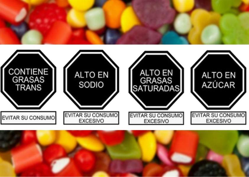 SIGNIFICADO DE LOS OCTÓGONOS: ALTO EN GRASAS SATURADAS, ALTO EN SODIO, ALTO EN AZÚCAR, CONTIENE GRASAS TRANS